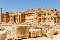 Baalbek Ancient city in Lebanon. Royalty Free Stock Image