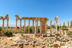 Baalbek Ancient city in Lebanon. Royalty Free Stock Photography