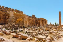 Baalbek Ancient city in Lebanon. Royalty Free Stock Photo