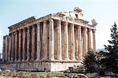 Baalbek bacchus świątynia Obraz Royalty Free