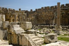 Baalbek, Bekaa Valley, Lebanon. Ruins at Baalbek, Bekaa Valley, Lebanon Royalty Free Stock Image