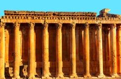 baalbek blåa jupiter lebanon över s-skytempelet Royaltyfria Bilder