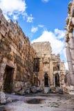 Baalbek historisk gränsmärke 11 arkivfoto