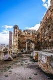 Baalbek historisk gränsmärke 12 royaltyfria bilder