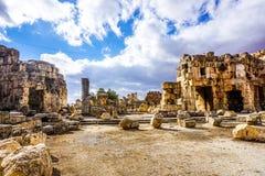 Baalbek historisk gränsmärke 15 royaltyfri foto