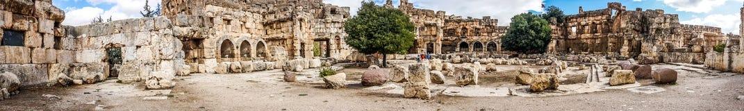 Baalbek historisk gränsmärke 16 royaltyfri bild