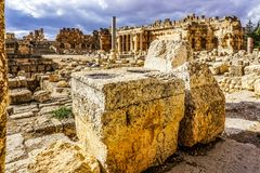 Baalbek historisk gränsmärke 17 arkivfoton