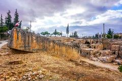 Baalbek Roman Monolith 02 arkivbilder