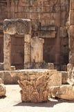 Baalbek Roman Ruins in Libanon Stock Afbeeldingen