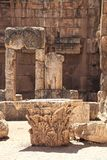 Baalbek Roman Ruins nel Libano Immagini Stock