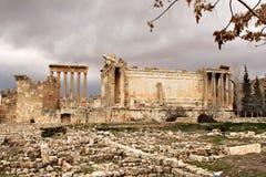 Baalbek - Ruinen der alten phönizischen Stadt lizenzfreie stockfotografie
