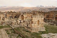 Baalbek - Ruinen der alten phönizischen Stadt lizenzfreies stockfoto