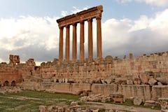 Baalbek - Ruinen der alten phönizischen Stadt lizenzfreie stockfotos