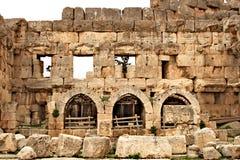 Baalbek - ruines de ville phénicienne antique Images stock