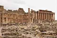 Baalbek - ruines de ville phénicienne antique Image libre de droits