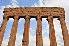 Baalbek - ruines de ville phénicienne antique Photographie stock