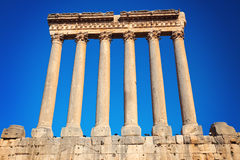 Baalbek ruins. Seen morning time Royalty Free Stock Photography