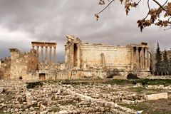 Baalbek - ruins of ancient Phoenician city Royalty Free Stock Photography