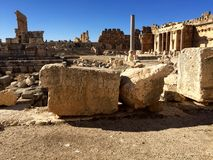 Baalbek UNESCO World Heritage Site Royalty Free Stock Image