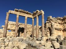 Baalbek UNESCO World Heritage Site Royalty Free Stock Images