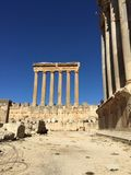 Baalbek UNESCO World Heritage Site, the remaining columns of the Temple of Jupiter. Stock Image