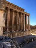 Baalbek UNESCO World Heritage Site, the Temple of Bacchus Royalty Free Stock Photo