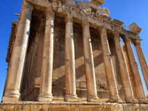 Baalbek UNESCO World Heritage Site, the Temple of Bacchus Stock Photos