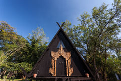 Baan水坝,艺术馆在清莱,泰国 免版税图库摄影