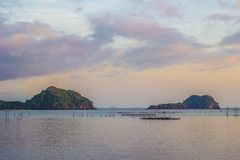 Beautiful landscape of Ao Kram in Dan Sawee Subidstrict,Sawee DIstrict,Chumphon province,Southern Thailand. royalty free stock photos