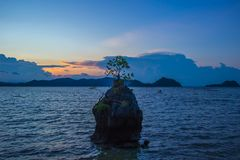 Beautiful landscape of Ao Kram in Dan Sawee Subidstrict,Sawee DIstrict,Chumphon province,Southern Thailand. royalty free stock photo