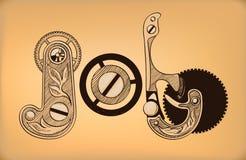baan Decoratieve het van letters voorzien samenstelling Royalty-vrije Stock Afbeelding