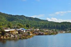 Baan rak thai , the village in a lake Royalty Free Stock Images