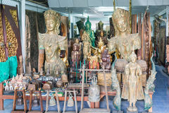 Baan Tawai village has traditionally been the center of the handicrafts trade in Northern Thailand Stock Image