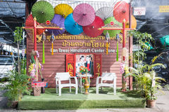 Baan Tawai village has traditionally been the center of the handicrafts trade in Northern Thailand Stock Photos