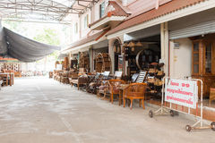Baan Tawai village has traditionally been the center of the handicrafts trade in Northern Thailand Stock Photo