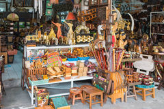 Baan Tawai village has traditionally been the center of the handicrafts trade in Northern Thailand Royalty Free Stock Photos