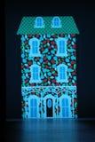 Baanachtergrond tijdens Anna Sui September 2016 Royalty-vrije Stock Afbeeldingen