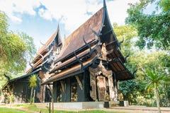 BAANDAM泰国样式传统清莱,泰国 免版税库存图片