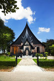Baandam Museum & Gallery or Black House in Chiang Rai, Thailand. Royalty Free Stock Photos