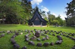 Baandam muzeum, galeria & czerń dom w Chiang Raja, Tajlandia zdjęcia royalty free