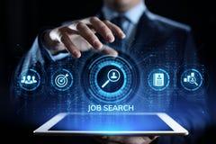 Baanonderzoek het huren de rekrutering verzendt cv hervat bedrijfsconcept stock afbeeldingen