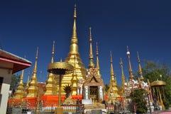 Baantak Golden pagoda Thailand. Thai Buddhism golden pagoda same as shewdagon pagoda stock image