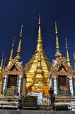 Baantak Golden pagoda Thailand. Thai Buddhism golden pagoda same as shewdagon pagoda stock images