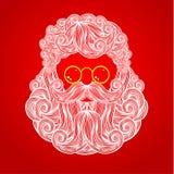 Baard en snor van Santa Claus Stock Afbeeldingen