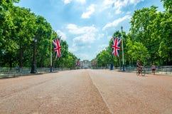 Baarkleedwandelgalerij in Londen op een de zomer` s dag royalty-vrije stock foto's