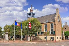 Ancient town hall of Baarle-Nassau, Netherlands Stock Photography
