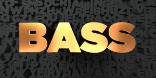Baarzen - Gouden tekst op zwarte achtergrond - 3D teruggegeven royalty vrij voorraadbeeld Royalty-vrije Stock Afbeeldingen