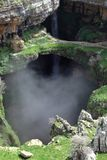 Baatara Sinkhole and Waterfall (Lebanon) Stock Image