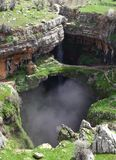 Baatara Sinkhole and Waterfall, Lebanon Stock Photography