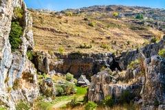 Baatara wąwozu werteb w Tannourine, Liban obraz stock